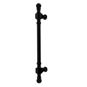 Retro Dot Collection 18 Inch Beaded Refrigerator Pull, Matte Black