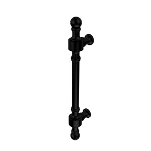 Retro Dot Collection 8 Inch Beaded Door Pull, Matte Black