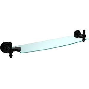 Retro Dot Matte Black 18 Inch Single Glass Shelf