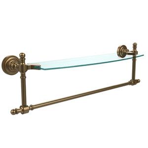 Retro Dot Brushed Bronze 18 InchSingle Shelf w/ Towel Bar