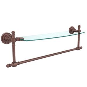 Retro Dot Antique Copper 18 InchSingle Shelf w/ Towel Bar