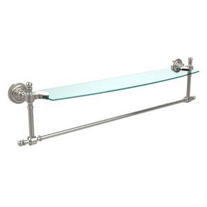 Retro Dot Polished Nickel 24 Inch Single Shelf w/ Towel Bar