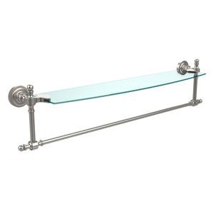 Retro Dot Satin Nickel 24 Inch Single Shelf w/ Towel Bar