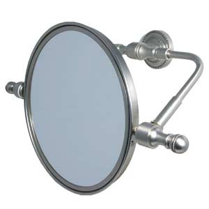 Retro-Dot Satin Chrome 2X Magnifying Swivel Mirror