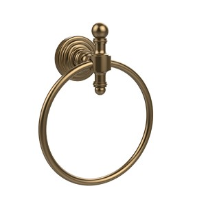 Retro Wave Brushed Bronze Towel Ring