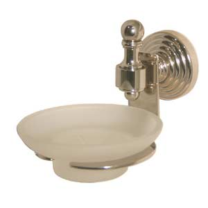 Retro-Wave Polished Brass Wall-Mounted Soap Dish
