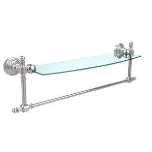 Polished Chrome Retro-Wave 18-Inch Glass Shelf with Towel Bar