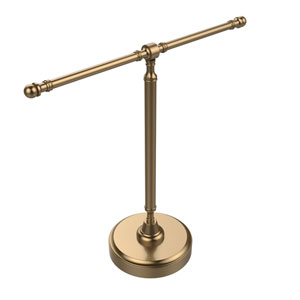 Vanity Top 2 Arm Guest Towel Holder, Brushed Bronze