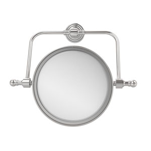 Retro Wave Collection Wall Mounted Swivel Make-Up Mirror 8 Inch Diameter with 2X Magnification, Polished Chrome