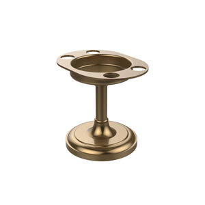 Vanity Top Tumbler and Toothbrush Holder, Brushed Bronze