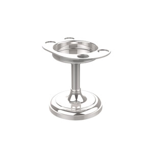 Vanity Top Tumbler and Toothbrush Holder, Polished Chrome
