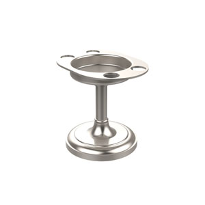 Vanity Top Tumbler and Toothbrush Holder, Satin Nickel