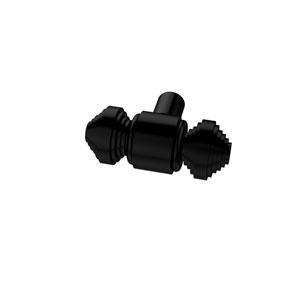 Southbeach Matte Black Cabinet Knob 1-1/2 Inch