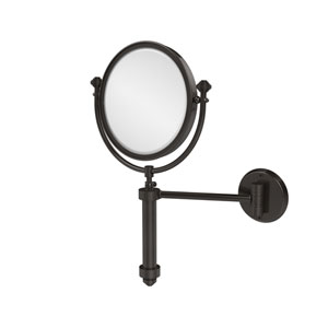 Southbeach Collection Wall Mounted Make-Up Mirror 8 Inch Diameter with 2X Magnification, Oil Rubbed Bronze