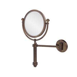 Southbeach Collection Wall Mounted Make-Up Mirror 8 Inch Diameter with 4X Magnification, Venetian Bronze