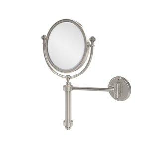Southbeach Collection Wall Mounted Make-Up Mirror 8 Inch Diameter with 5X Magnification, Polished Nickel