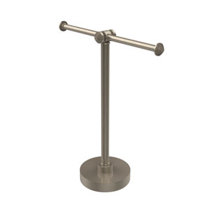 Southbeach Collection Vanity Top 2 Arm Guest Towel Holder, Antique Pewter