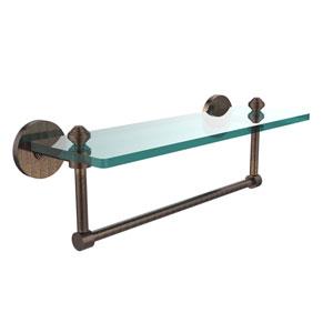 Southbeach Venetian Bronze 16x5 Glass Shelf w/ Towel Bar