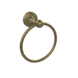Sag Harbor Collection Towel Ring, Antique Brass