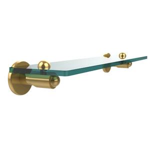 Soho Collection 22 Inch Glass Vanity Shelf with Beveled Edges, Polished Brass