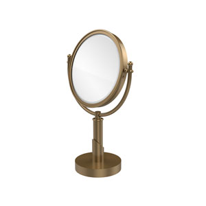 Soho Collection 8 Inch Vanity Top Make-Up Mirror 2X Magnification, Brushed Bronze