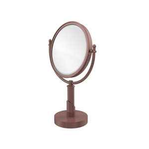 Soho Collection 8 Inch Vanity Top Make-Up Mirror 2X Magnification, Antique Copper