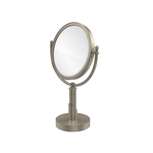 Soho Collection 8 Inch Vanity Top Make-Up Mirror 2X Magnification, Antique Pewter