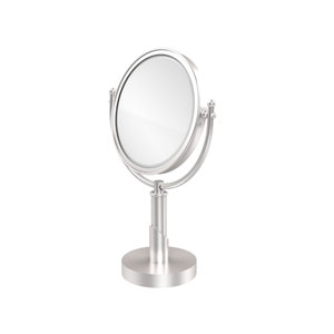 Soho Collection 8 Inch Vanity Top Make-Up Mirror 2X Magnification, Satin Chrome