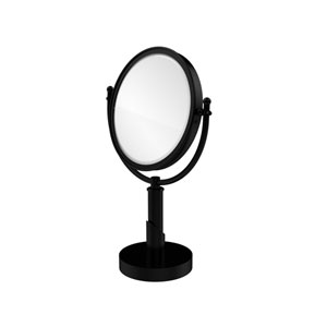 Soho Collection 8 Inch Vanity Top Make-Up Mirror 3X Magnification, Matte Black