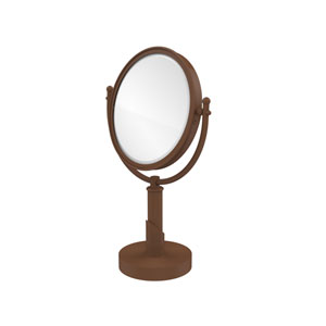 Soho Collection 8 Inch Vanity Top Make-Up Mirror 5X Magnification, Antique Bronze