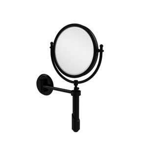 Soho Collection Wall Mounted Make-Up Mirror 8 Inch Diameter with 5X Magnification, Matte Black