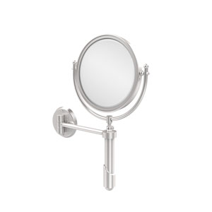 Soho Collection Wall Mounted Make-Up Mirror 8 Inch Diameter with 5X Magnification, Satin Chrome