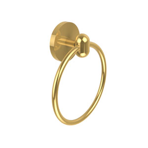 Tango Collection Towel Ring, Unlacquered Brass