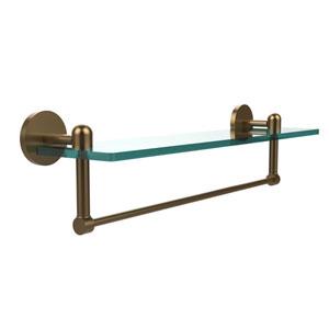 Tango Brushed Bronze 22x5 Glass Shelf w/ Towel Bar