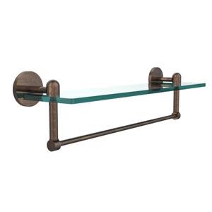 Tango Venetian Bronze 22x5 Glass Shelf w/ Towel Bar