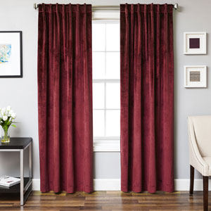 Tatum Crimson 96 x 55 In. Luxurious Velvet Panel