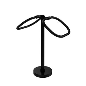 Two Ring Oval Guest Towel Holder, Matte Black