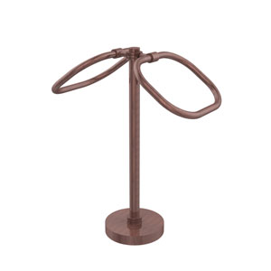 Two Ring Oval Guest Towel Holder, Antique Copper