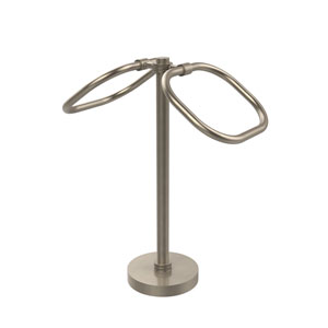Two Ring Oval Guest Towel Holder, Antique Pewter
