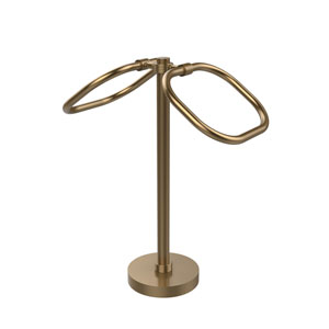 Two Ring Oval Guest Towel Holder, Brushed Bronze