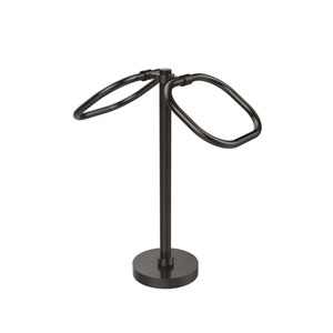 Two Ring Oval Guest Towel Holder, Oil Rubbed Bronze