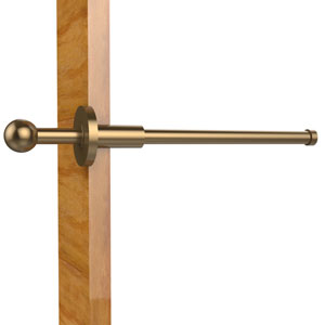 Traditional Retractable Pullout Garment Rod, Brushed Bronze