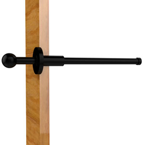 Traditional Retractable Pullout Garment Rod, Matte Black