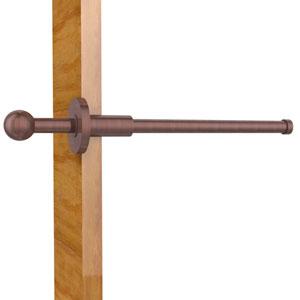 Traditional Retractable Pullout Garment Rod, Antique Copper