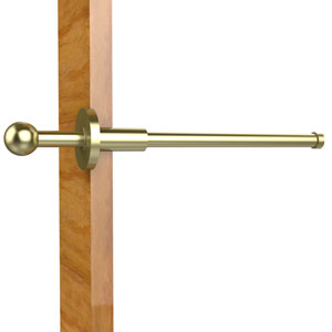 Traditional Retractable Pullout Garment Rod, Satin Brass