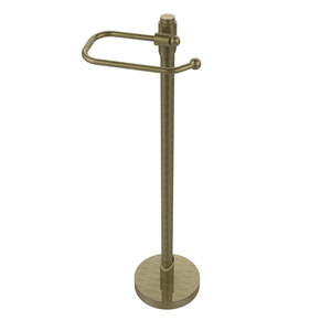 Tribecca Collection Free Standing Toilet Tissue Holder, Antique Brass
