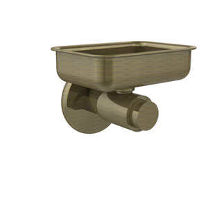 Tribecca Collection Wall Mounted Soap Dish, Antique Brass