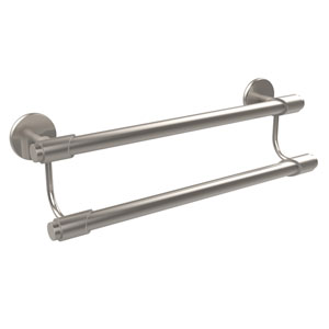 Tribecca Collection 18 Inch Double Towel Bar, Satin Nickel