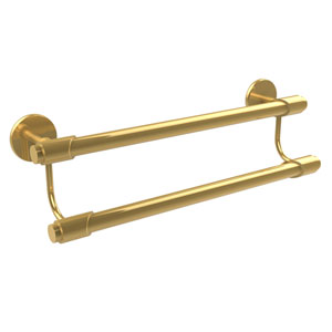 Tribecca Collection 18 Inch Double Towel Bar, Unlacquered Brass