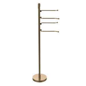 Floor Standing 49 Inch 4 Pivoting Swing Arm Towel Holder, Brushed Bronze